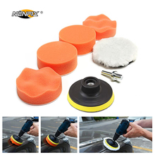 7pcs 3 Car Sponge Polishing Pad Set Buffer Waxing Adapter Drill Kit for Auto Body Care Headlight Assembly Repair
