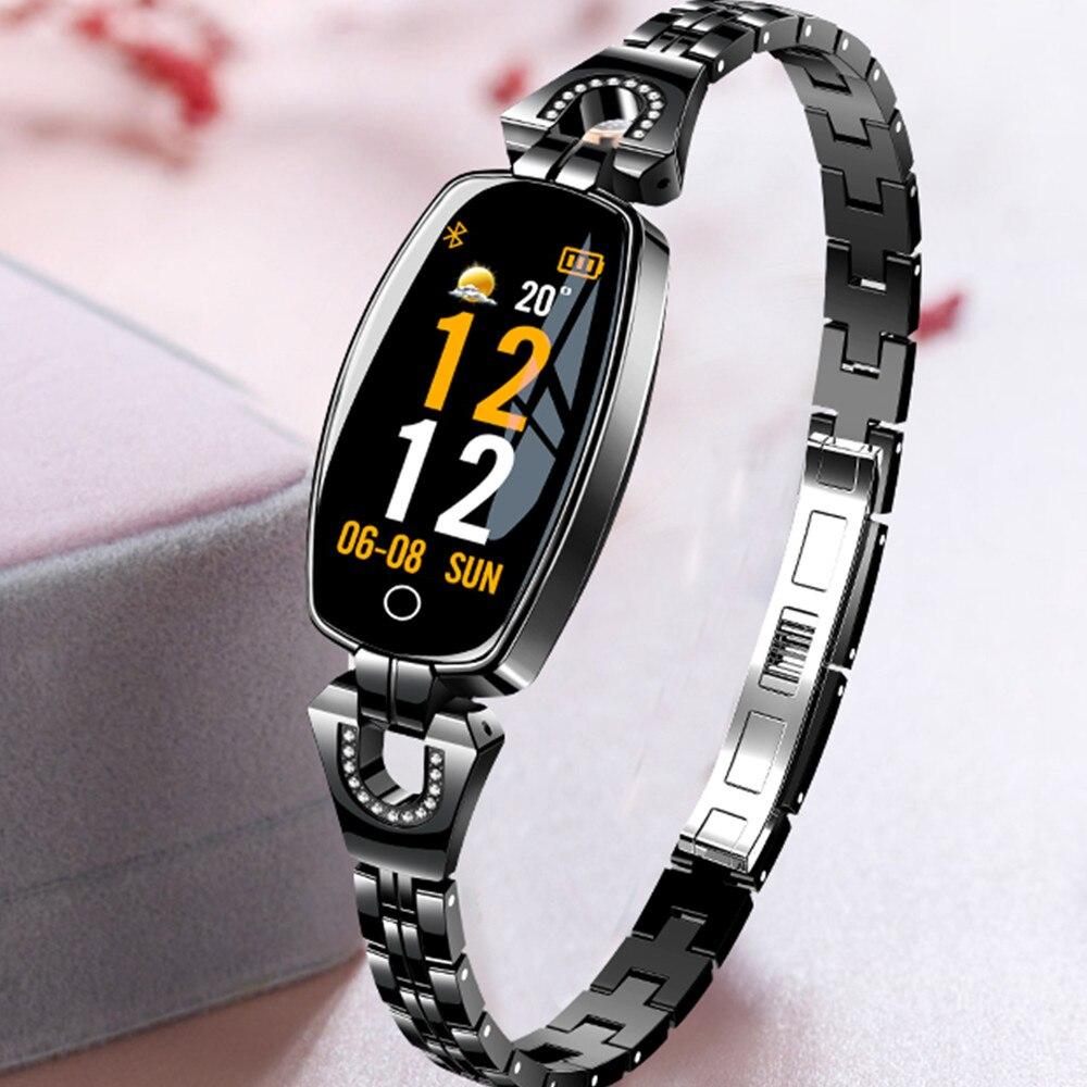 Analytisch 696 H8 Frauen Mode Smart Armband Uhr Mit Blutdruck Herz Rate Schlaf Monitor Schrittzähler Smartwatch App Verbinden Android Unterhaltungselektronik