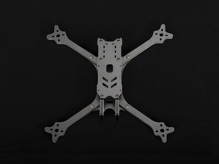 TRANSTEC Freedom V2 235mm 98g 6mm Arm LED with shock absorbers FPV frame kit Quadcopter Racing