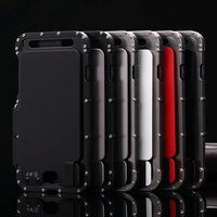 Brand R Just Armor King Iron Man Stainless Steel Metal Shockproof Flip Case For Apple IPhone
