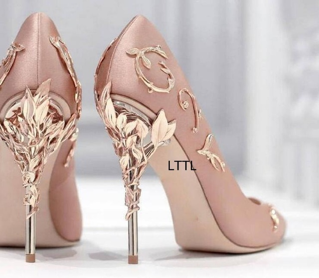 Aliexpress.com : Buy New Arrival Awesome Pink Silk Metal Stiletto ...