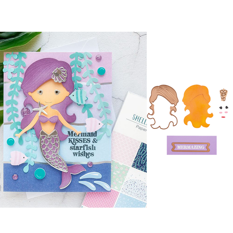 Mermaid Craft Cutting Dies DIY Decorate Scrapbooking Card Embossing Paper one