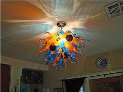 Gorąca sprzedaż LED do montażu podtynkowego oprawa światła ręcznie dmuchanego szkła żyrandol oświetlenie w Żyrandole od Lampy i oświetlenie na