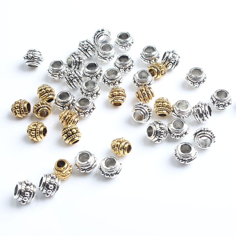 6mm 49pcs Every bead gasket DIY men and women bracelet necklace ankle Accessories in Jewelry Findings Components from Jewelry Accessories