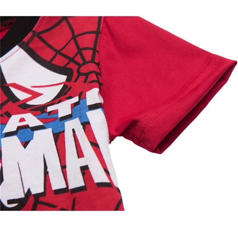 Boys girls pajamas superhero spider man children Tops Short Sleeve Shorts T-Shirt Summer sleepwear baby kid toddler clothes set