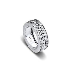 Image 2 - CKK Forever Handtekening Ring 925 Sterling Zilver Duidelijk CZ Wedding Originele Ringen voor vrouwen Zilver 925 anillos mujer Fijne Sieraden