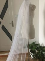 1T Rhinestone Bling bling bride veil White or ivory 3M Cathedral Bridal Wedding Veil Crystals With Comb