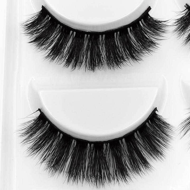SHIDISHANGTPIN 5 pairs mink false eyelashes natural 3d mink eye lashes soft makeup false eyelash tweezers thick fake mink lashes in False Eyelashes from Beauty Health