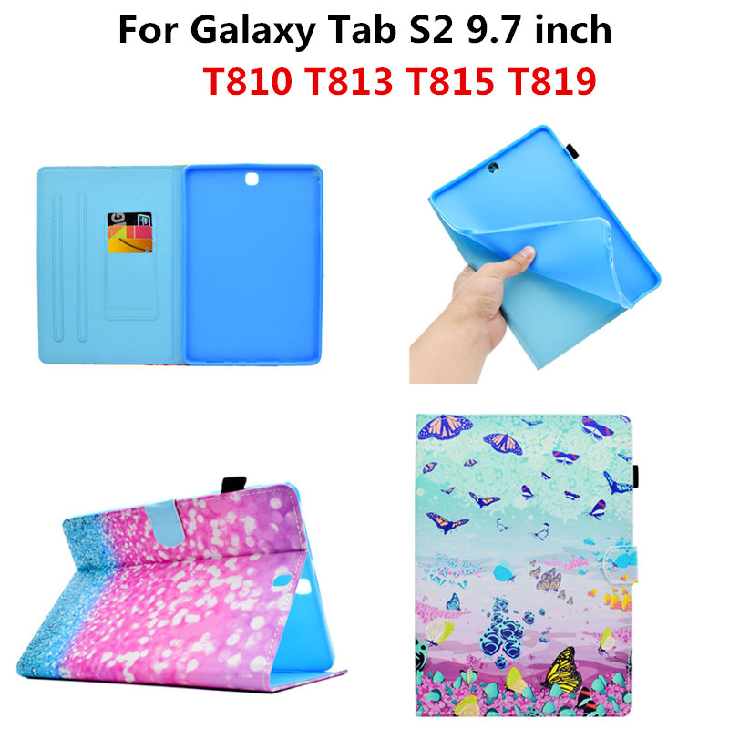 PU Leather Tablet Case Cover Protective Stand Smart Cases For Samsung Galaxy Tab S2 9.7 inch T815 T810 T813 T819 T819C Funda pu leather stand cover case universal 7 0 inch tablet for samsung galaxy tab 2 tab3 t110 t111 t230 t210 for kids gift kf469d