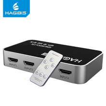 Hagibis HDMI Splitter 4 Input 1 Output HDMI Switcher 4 Port Switch 4K*2K HDMI Adapter for PS3 PS4 Xbox 360 Smart Android HDTV