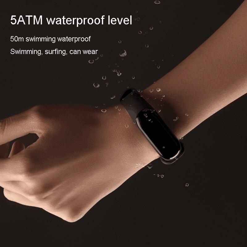Bracelet Smart Xiaomi Mi Band 3 Miband 3 OLED écran tactile 0.78 pouce afficheur de message prévision météo tracker pour le fitness Xiaomi Band 3 - 3
