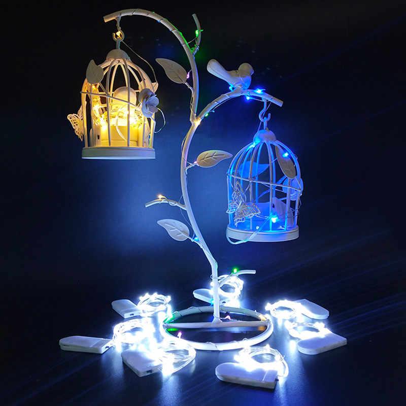 Noel dekorasyon renkli su geçirmez pil işletilen mini gümüş led dize işıkları 1M 2M