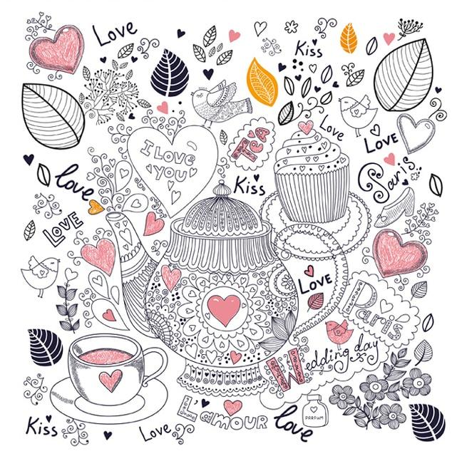 96 Seite Anti stress Inky Schatz Blume färbung bücher für Kinder ...