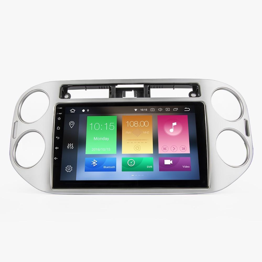 10 ''Android 8.0 Autoradio multimédia voiture GPS lecteur de Navigation pour VW Tiguan 2010-2015