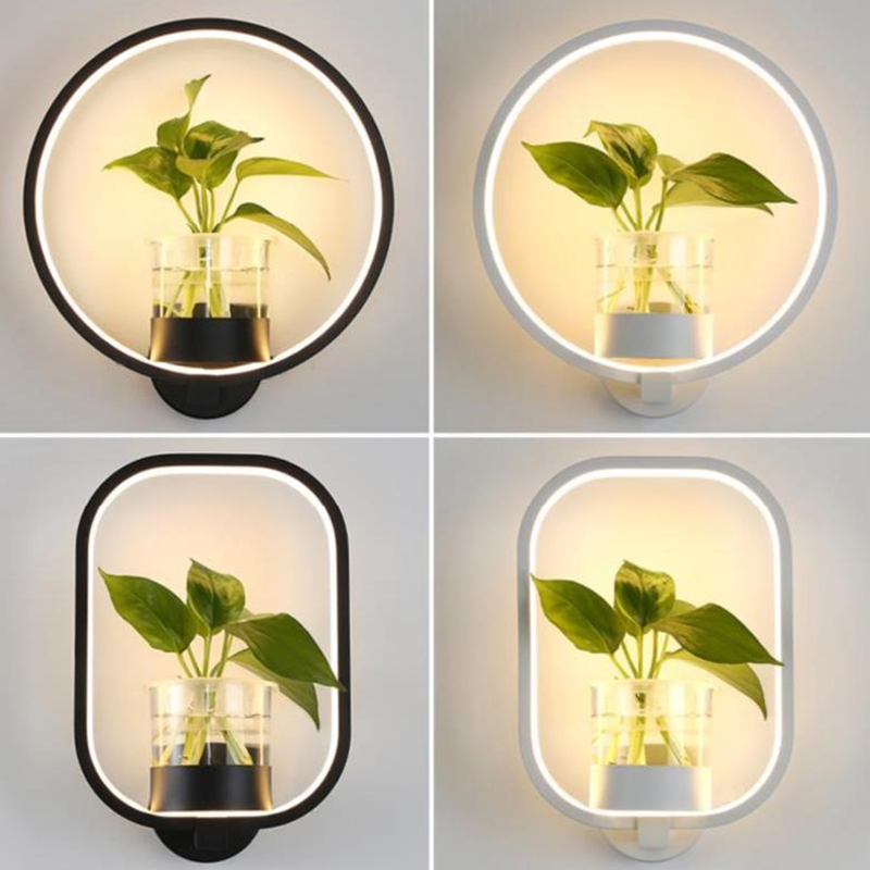 New Modern Led Wall Lamp Living Room Restaurant Stair Aisle Lamp Study Bedroom Bedside Lamp Hydroponic Plant Wall Lamps
