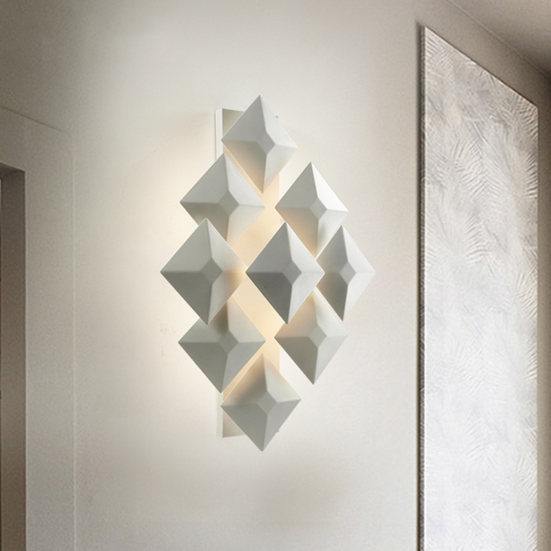 New wall sconce lights living room bedroom wall lighting AC85~265V Geometry-shape DIY surface mounted wall lamp free shipping