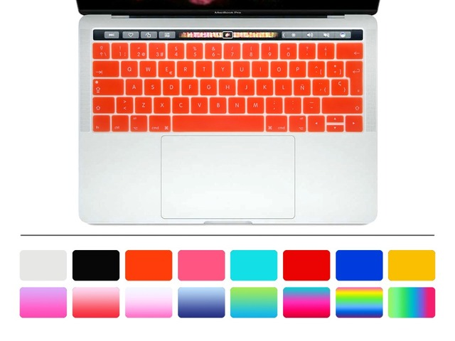 For MacBook Pro 13 A1706 Pro 15 A1707 2016 2017 VERSION With Touch Bar 2017 Spanish European Keyboard Cover Keypad Protector