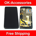 Cor preta 1 pc/lote para motorola droid razr hd xt926 lcd display + touch screen digitador + quadro