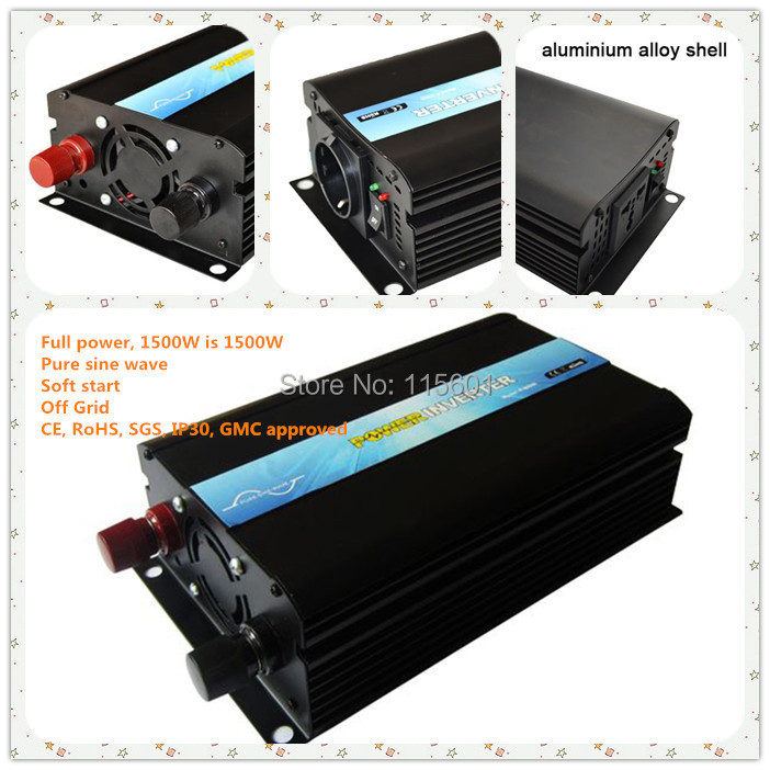 One Year Warranty ,Made In China ,Solar Power Inverter 12v 220v 1500w ,CE&SGS&RoHS&IP30 Approved 1 year warranty in stock 100