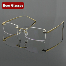 100% Pure Titanium MenS Eyeglasses Frame Optical Glasses RXable Rimless Glasses Light  Weight 4 Colors  YASHILU 1179
