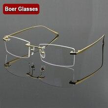 إطار نظارات للرجال من التيتانيوم الخالص 100% إطار نظارات بصرية RXable بدون إطار نظارات خفيفة الوزن 4 ألوان YASHILU 1179
