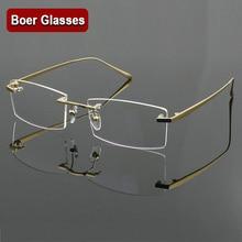 100% czysty tytan męskie okulary ramki optyczne okulary RXable okulary bez oprawek lekki 4 kolory YASHILU 1179