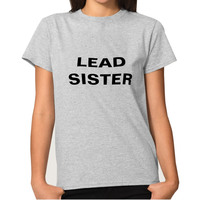 LEAD SISTER Three Colors Hot Fashion Lovely Type Female Models Round Neck Cotton T Shirt