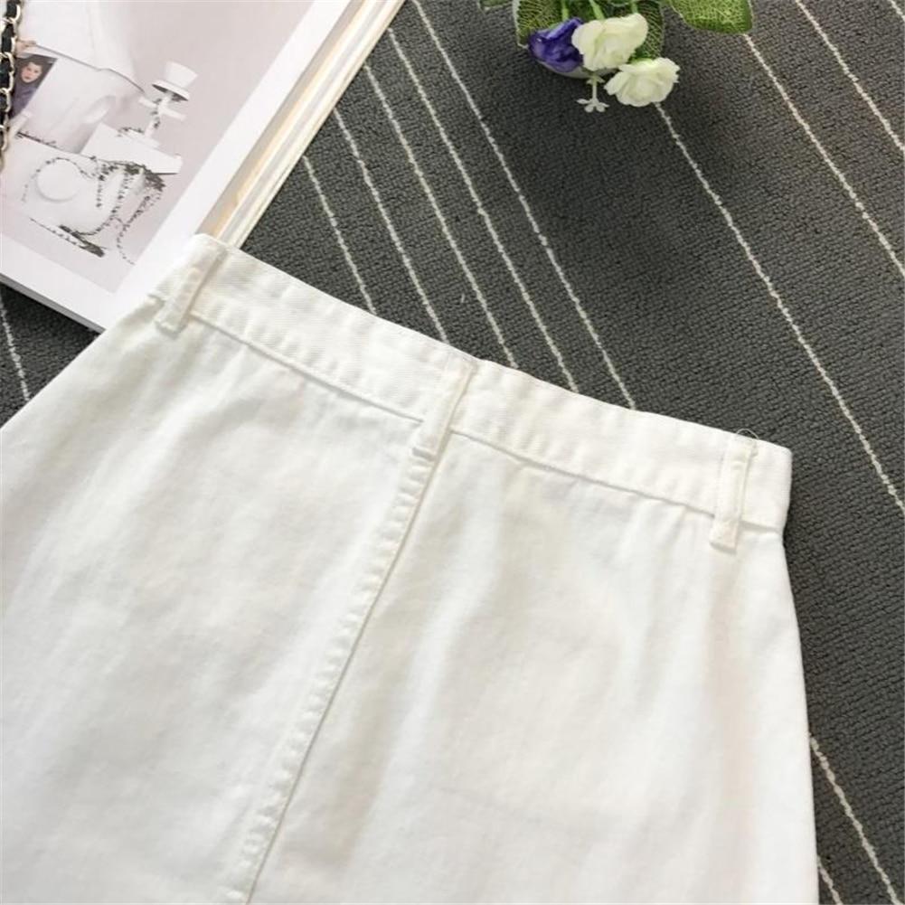 Denim Skirt Spring Summer Women Short A-line Buttom Skirts High Waist Slim Pocket Clothes For Female Causal Summer Women Skirt 24