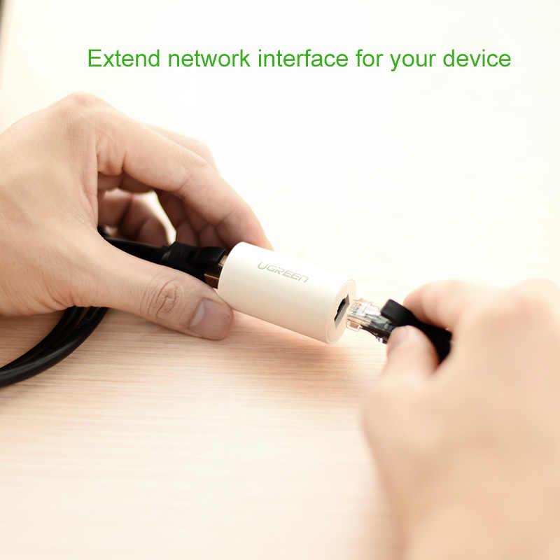 Ugreen RJ45 Ethernet adaptörü 8P8C dişi Anti-Thunder Rj45 konnektör ağ uzatma kablosu adaptörü Ethernet kablosu
