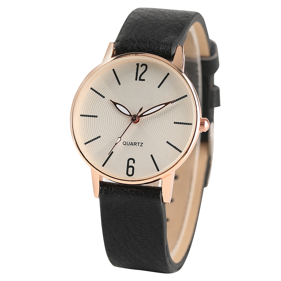 Quartz White/Balck Clock Female Style Simple Small Dial Women Wristwatches Elegant Casual Leather Band Sport Ladies Watch Gift sihaixin small wood watch women wristwatches with genuine leather bamboo wooden watch ladies casual quartz female best clock de