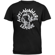 T Shirt Quotes MenS Fashion 2018 O-Neck Anti-Nowhere League - Fist Short-Sleeve Tees