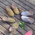 кожа Мальчиков Повседневная Обувь Детские кроссовки, Дети Горох обувьТапки Дети нескользящей обуви Детская Обувь размер 21-35