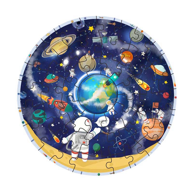 Baby Educational Toy Wooden Solar System Jigsaw Puzzles Planets Learning Toy Educational Children Gifts M