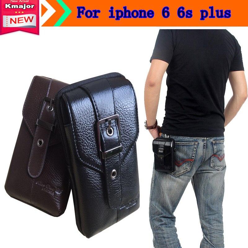 5.5 inch Universal <font><b>Phone</b></font> Bag Pedestrian Series for iphone 6 6s plus Model Wallet Pouch <font><b>Belt</b></font> Clip Genuine Leather Case <font><b>Holster</b></font>