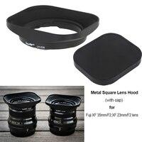 Full Metal Square Lens Hood with Cap for Fuji FUJINON Lens XF 35mm/F2, XF 23mm/F2
