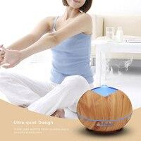 GXZ 400ml Wood Grain Aroma Diffuser Ultrasonic Timing Night Lights Air Humidifier Mist Maker Mini Home