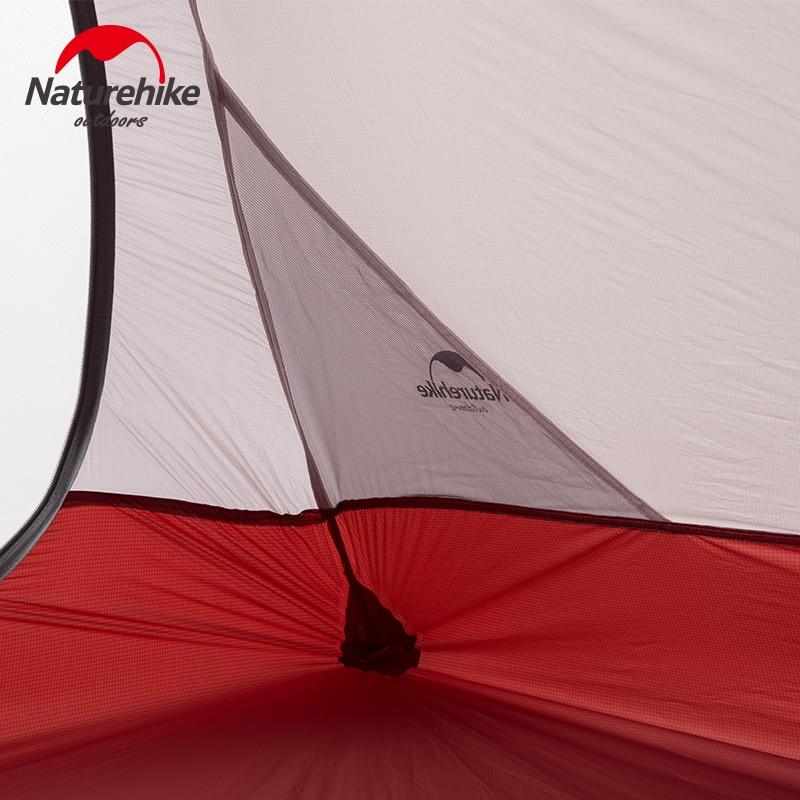 Naturehike палатка 1.8 кг 3 человек 20d силиконовые Ткань двухслойная Палатка Сверхлегкий Открытый палатки кемпинга 4 сезона nh15t003 t - 4