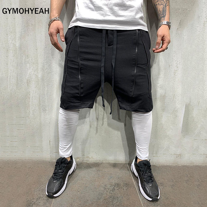 GYMOHYEAH New Double Layer   Shorts   Men Summer Quick-drying Breathable Running Men   Shorts   Sports Training Fitness   Short   Pants