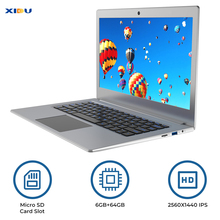 "Ноутбук XIDU 12,5 ""Windows 10 2560x1440 ips дисплей 6 ГБ Intel Celeron N3450 ноутбук 2,4G/5G WiFi с разъемом Micro SD 128 ГБ"
