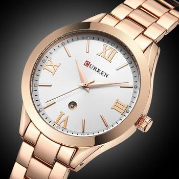 CURREN Women´s Top Brand Luxury Casual Rose Gold Steel Classic Dial Ultra-Thin Quartz Watches 4