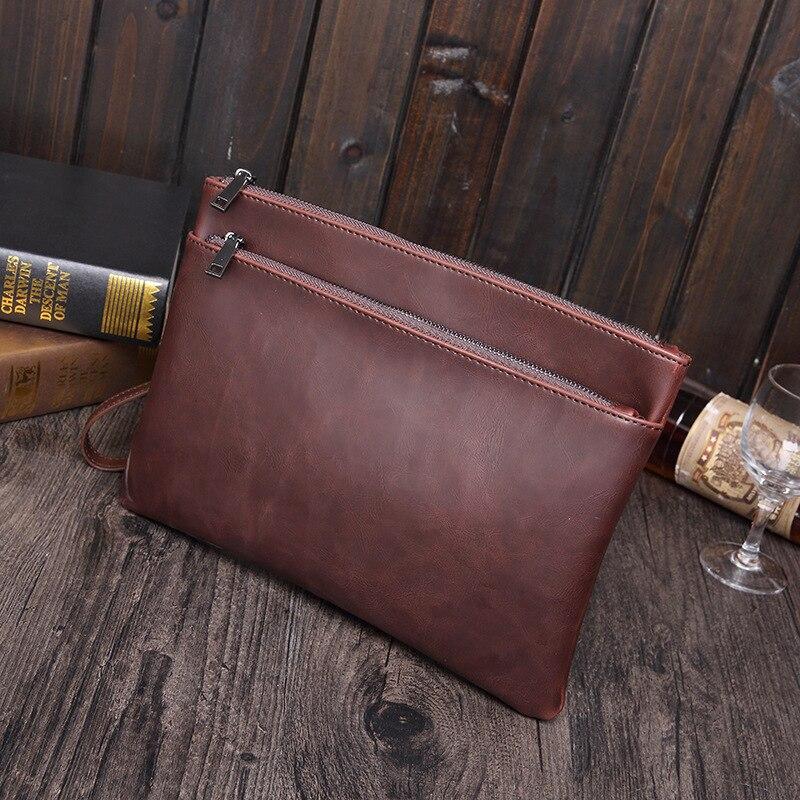 Hot Selling High Quality Leather File Folder Document Filing Bag Elastic Closure Folder Laptop Bag Notebook Bag