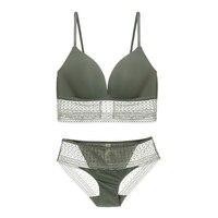 Munllure Basic bra set without rims sexy lace side comfortable beauty back women underwear tide bra set