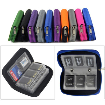 Card Storage Carrying Case Holder Wallet 18slots + 4 slots Carrying Pouch Protector Colorful Container Camera/Video Bags