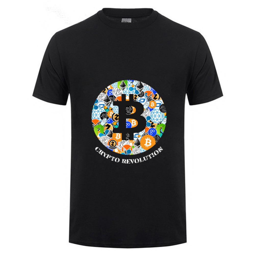 T Shirt Cryptocurrency Bitcoin Litecoin Dash Zcash Ethereum Monero Homme T-shirt Short Sleeve 100% Cotton Men hombre camiseta