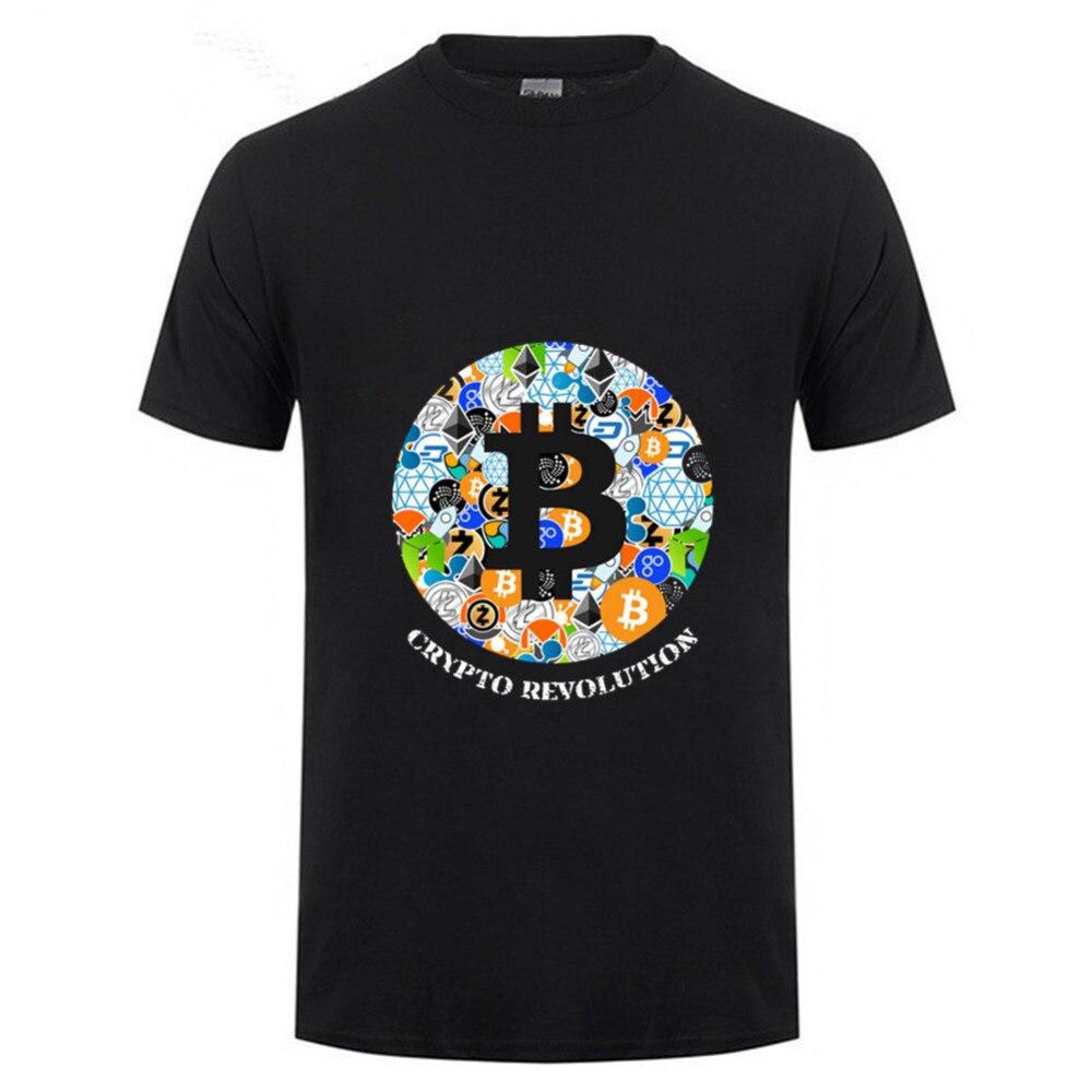 T Shirt Cryptocurrency Bitcoin Litecoin Dash Zcash Ethereum Monero Homme T-shirt Short Sleeve 100% Cotton Men hombre camiseta