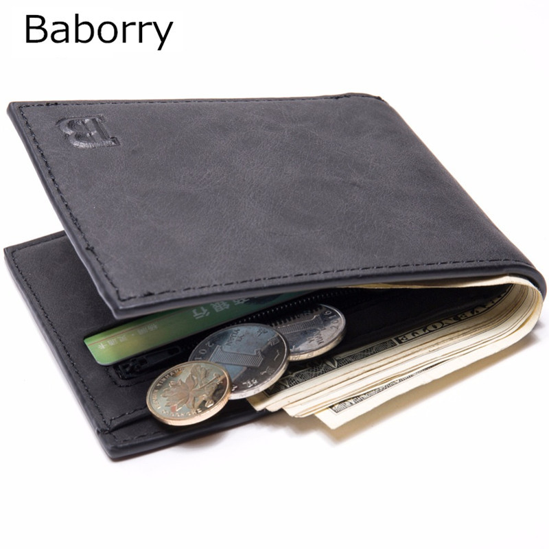 цена Dollar Price Men Wallets Famous Brand PU Leather Wallet Wallets With Coin Pocket Thin Purse Card Holder For Men Fashion Slim