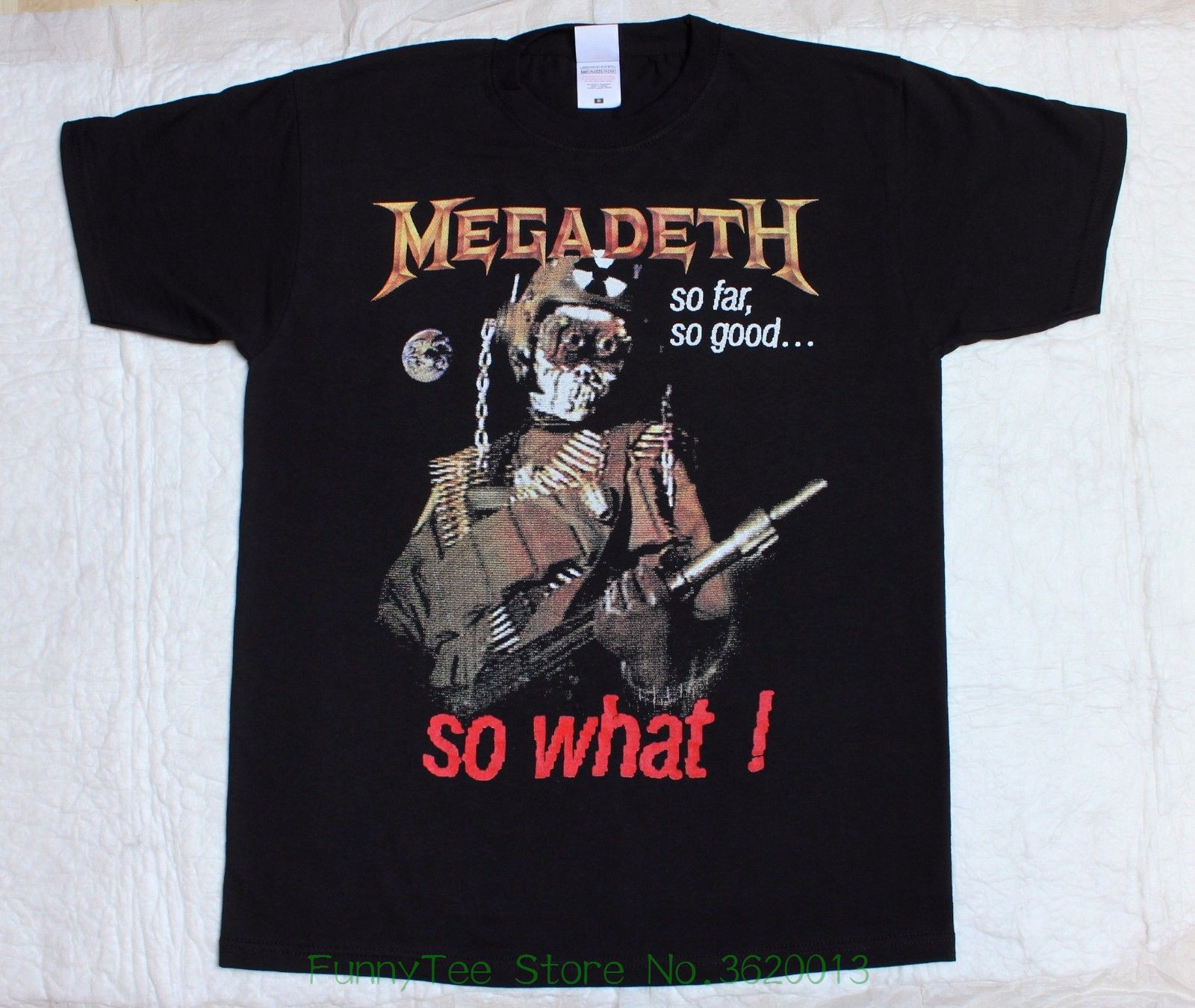 Megadeth So Far , So Good , So What&#039 ; 88 Thrash Mustaine New Black T-shirt