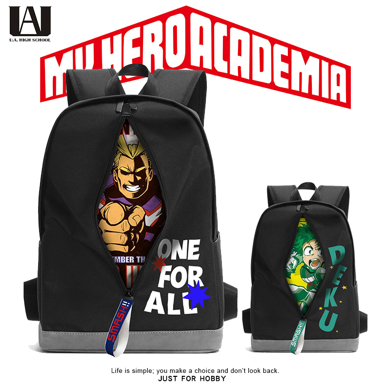 My Hero Academia Boku Izuku Midoriya All Might Cosplay Black Bags Anime Backpack School Shoulder Bag For Traveler Student