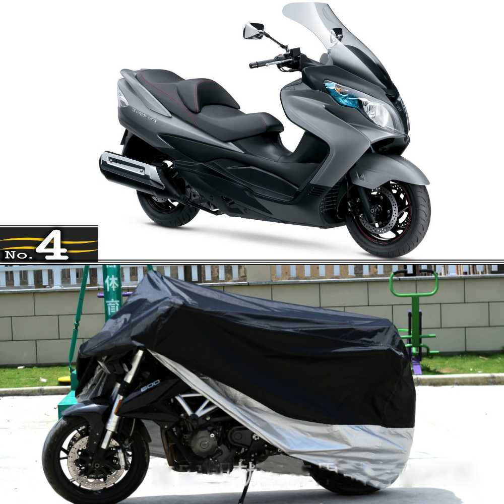 SUZUKI BURGMAN 400 Oxford Protex Stretch Motorcycle Dust Cover Motorbike Blue