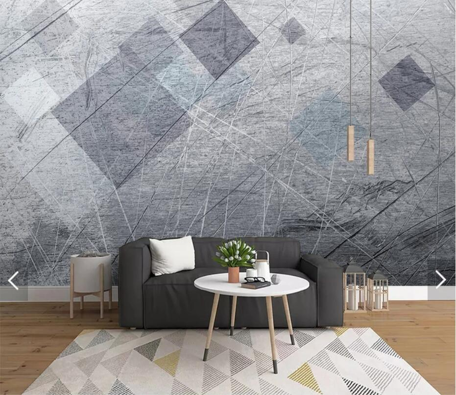 Nordic Abstract Geometric Line Wallpaper 3D Wall Mural For